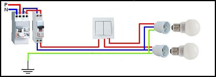 sch ma interrupteur double allumage. Black Bedroom Furniture Sets. Home Design Ideas