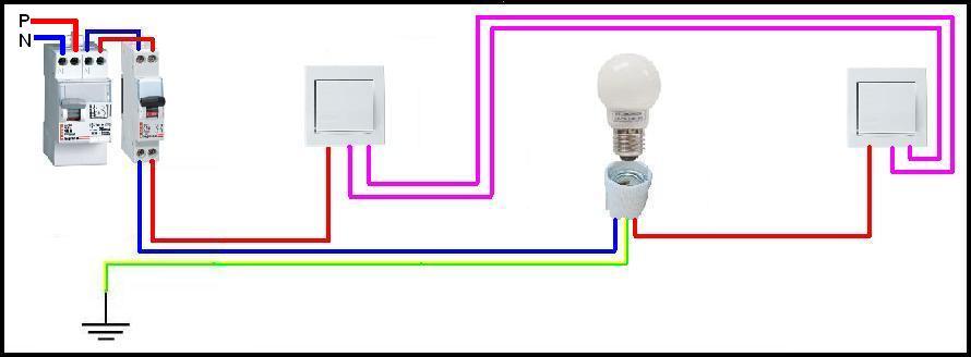 Figure 5 circuit va et vient images frompo for Branchement va et vient